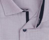 OLYMP vasalásmentes férfi ing rózsaszín-sötétkék mintás - gallér