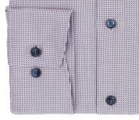 OLYMP vasalásmentes férfi ing karcsúsított rózsaszín-sötétkék mintás - mandzsetta