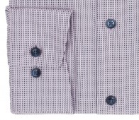 OLYMP vasalásmentes férfi ing rózsaszín-sötétkék mintás - mandzsetta