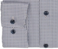 OLYMP vasalásmentes férfi ing karcsúsított hosszított ujjú barna-sötétkék mintás - mandzsetta