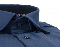 OLYMP vasalásmentes férfi ing karcsúsított sötétkék mintás - gallér