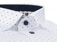 OLYMP vasalásmentes férfi ing karcsúsított kék-sötétkék mintás - gallér