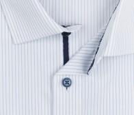 OLYMP vasalásmentes férfi ing világoskék csíkos - gallér