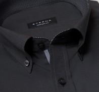 eterna vasalásmentes férfi ing sötétszürke (legombolt gallér) - gallér
