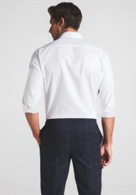 eterna vasalásmentes karcsúsított férfi ing fehér anyagában mintás - hát