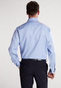 eterna vasalásmentes férfi ing világoskék anyagában mintás - modell hát