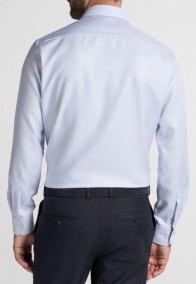 eterna vasalásmentes karcsúsított férfi ing világoskék anyagában mintás - hát