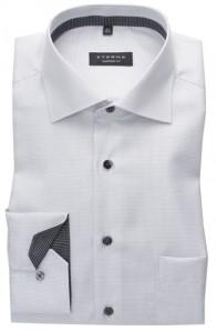 eterna vasalásmentes férfi ing szürke anyagában mintás