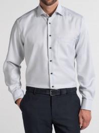 eterna vasalásmentes férfi ing szürke anyagában mintás - modell