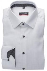 eterna vasalásmentes karcsúsított férfi ing szürke anyagában mintás