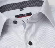 eterna vasalásmentes karcsúsított férfi ing szürke anyagában mintás - gallér