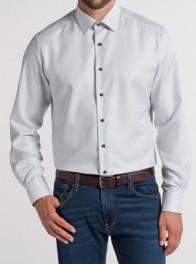 eterna vasalásmentes karcsúsított férfi ing szürke anyagában mintás - modell