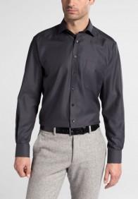 eterna vasalásmentes férfi ing sötétszürke anyagában mintás - modell