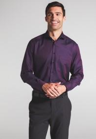 eterna vasalásmentes férfi ing piros-sötétkék anyagában mintás - modell