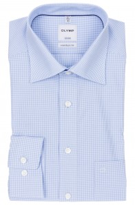 OLYMP vasalásmentes férfi ing kék apró kockás