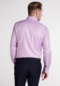 eterna vasalásmentes karcsúsított férfi ing lilás rózsaszín anyagában csíkos - hát