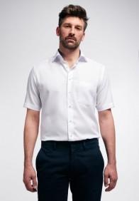 eterna vasalásmentes karcsúsított férfi ing fehér anyagában mintás rövid ujjú - modell