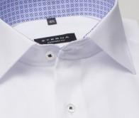 eterna vasalásmentes férfi ing fehér anyagában mintás - gallér