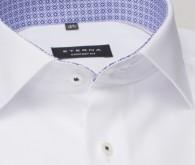 eterna vasalásmentes férfi ing rövid ujjú fehér anyagában mintás - gallér
