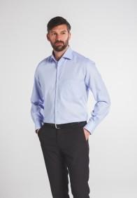 eterna vasalásmentes férfi ing világoskék anyagában mintás - modell
