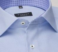 eterna vasalásmentes férfi ing rövid ujjú világoskék anyagában mintás - gallér