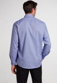eterna vasalásmentes férfi ing kék anyagában mintás - hát