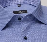 eterna vasalásmentes férfi ing kék anyagában mintás - gallér