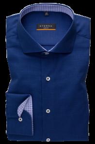 eterna vasalásmentes duplán karcsúsított férfi ing eterna vasalásmentes duplán karcsúsított férfi ing kék-sötétkék anyagában mintás