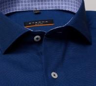 eterna vasalásmentes duplán karcsúsított férfi ing eterna vasalásmentes duplán karcsúsított férfi ing kék-sötétkék anyagában mintás - gallér