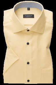 eterna vasalásmentes férfi ing rövid ujjú sárga anyagában mintás
