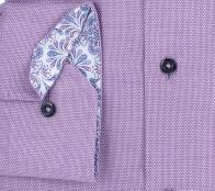 eterna vasalásmentes karcsúsított férfi ing lila anyagában mintás - mandzsetta