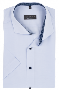 eterna vasalásmentes férfi ing rövid ujjú világoskék