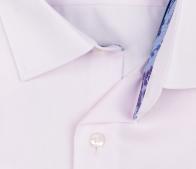 eterna vasalásmentes karcsúsított férfi ing rózsaszín anyagában csíkos - gallér