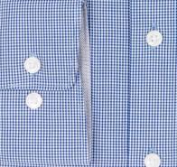 OLYMP vasalásmentes férfi ing sötétkék apró kockás - mandzsetta