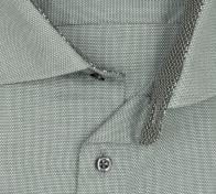 eterna vasalásmentes karcsúsított férfi ing zöld anyagában mintás - gallér