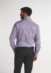 eterna vasalásmentes karcsúsított férfi ing rózsaszín-sötétkék mintás - hát