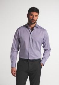 eterna vasalásmentes karcsúsított férfi ing rózsaszín-sötétkék mintás - modell