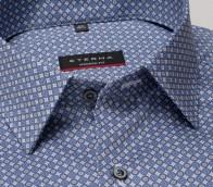 eterna vasalásmentes karcsúsított férfi ing kék-szürke mintás - gallér