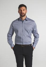 eterna vasalásmentes karcsúsított férfi ing kék-szürke mintás - modell