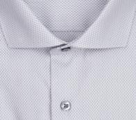eterna vasalásmentes duplán karcsúsított férfi ing szürke-fehér mintás - gallér