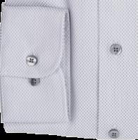 eterna vasalásmentes duplán karcsúsított férfi ing szürke-fehér mintás - mandzsetta