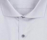 eterna vasalásmentes karcsúsított férfi ing szürke-fehér mintás - gallér