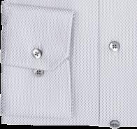 eterna vasalásmentes karcsúsított férfi ing szürke-fehér mintás - mandzsetta