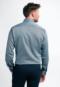 eterna vasalásmentes karcsúsított férfi ing acélkék anyagában mintás - hát