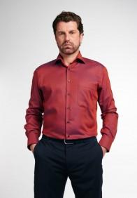eterna vasalásmentes férfi ing rozsda-sötétkék anyagában mintás - modell