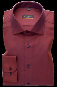 eterna vasalásmentes duplán karcsúsított férfi ing rozsda-sötétkék anyagában mintás