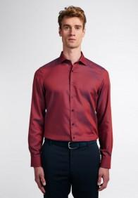 eterna vasalásmentes duplán karcsúsított férfi ing rozsda-sötétkék anyagában mintás - modell