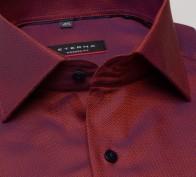 eterna vasalásmentes karcsúsított férfi ing rozsda-sötétkék anyagában mintás - gallér