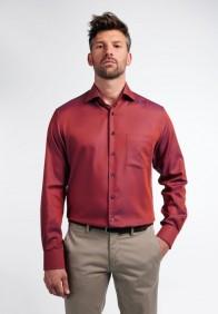 eterna vasalásmentes karcsúsított férfi ing rozsda-sötétkék anyagában mintás - modell
