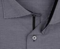 eterna vasalásmentes karcsúsított férfi ing sötétszürke anyagában mintás - gallér